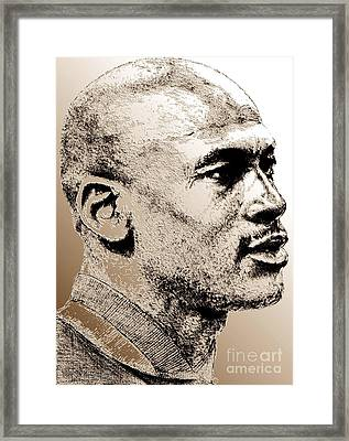 Michael Jordan In 1990 Framed Print