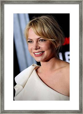 Michelle Williams At Arrivals Framed Print