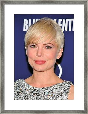 Michelle Williams At Arrivals For Blue Framed Print by Everett