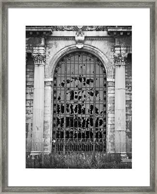 Michigan Central Station Framed Print by Priya Ghose