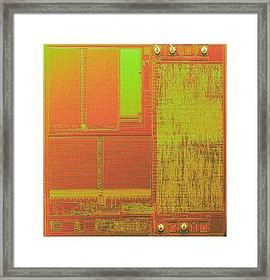 Microchip, Sem Framed Print by Power And Syred