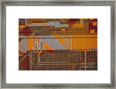 Microprocessors Framed Print