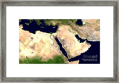 Middle East Framed Print by NASA / Science Source