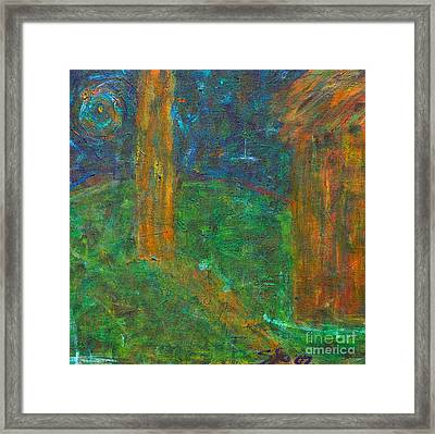 Midnight At The Lake Framed Print