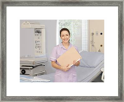 Midwife Framed Print by