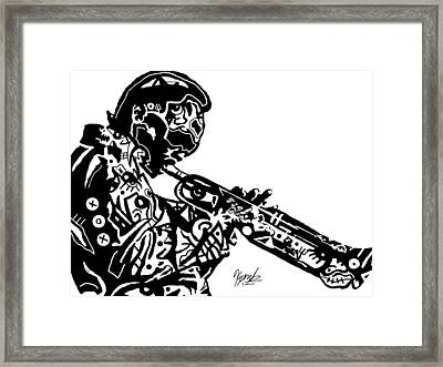Miles Davis By Kamoni-khem Framed Print by Kamoni Khem
