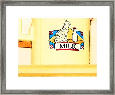 Milk Framed Print by Lenore Senior