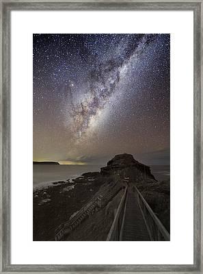 Milky Way Over Cape Schanck, Australia Framed Print