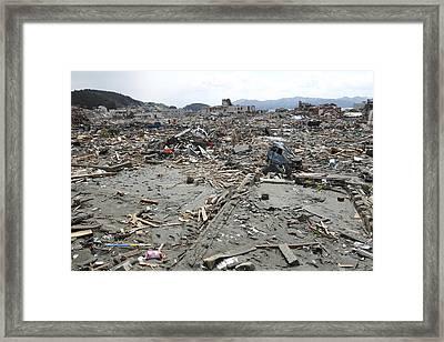 Minami Sanriku After The 2011 Earthquake Framed Print