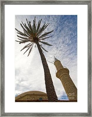 Minaret Framed Print by Stelios Kleanthous