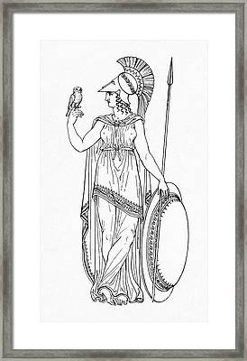 Minerva, Roman Goddess Of Medicine Framed Print by Photo Researchers