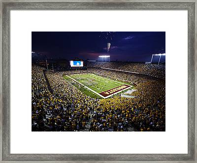 Minnesota Tcf Bank Stadium Framed Print by University of Minnesota