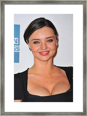 Miranda Kerr At Arrivals For The Good Framed Print