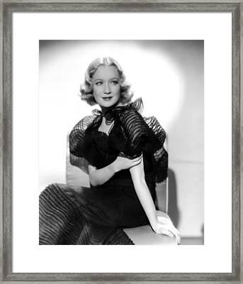 Miriam Hopkins, Ca. 1930s Framed Print by Everett