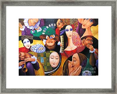 Mistery Of The Single Ci Taken By Blind Musician Framed Print