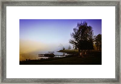 Misty Morning On Lake Jaunita Framed Print by Lynn Palmer