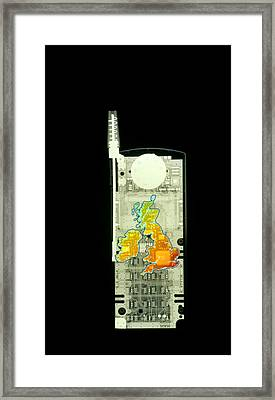 Mobile Phone X-ray Framed Print by D. Roberts