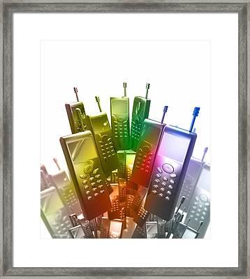Mobile Phones Framed Print