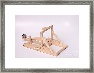 Model Catapult Framed Print by Ted Kinsman