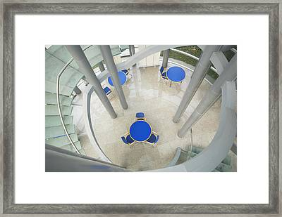Modern College Library Building Framed Print