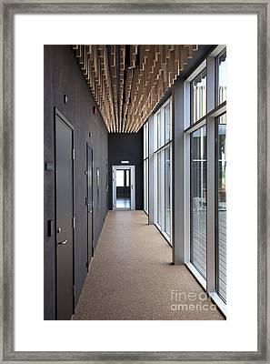 Modern Office Hallway Framed Print by Jaak Nilson