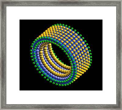 Molecular Bearing Sleeve Framed Print by Pasieka