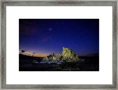 Mono Lake Big Dipper Sky Framed Print by La Rae  Roberts