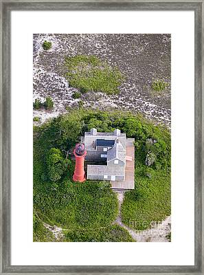 Monomoy Light At Monomoy Wildlife Refuge In Chatham On Cape Cod Framed Print by Matt Suess