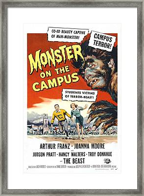 Monster On The Campus, Arthur Franz Framed Print