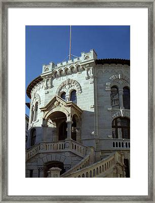 Framed Print featuring the photograph Monte Carlo Courthouse by Steven Richman