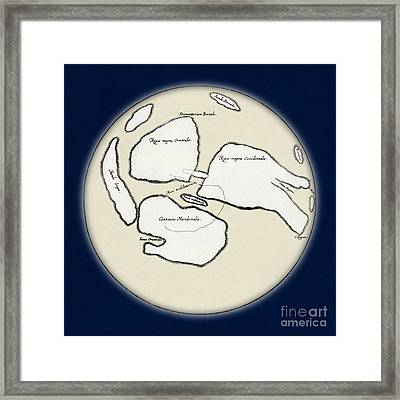 Moon Map By William Gilbert, 1603 Framed Print