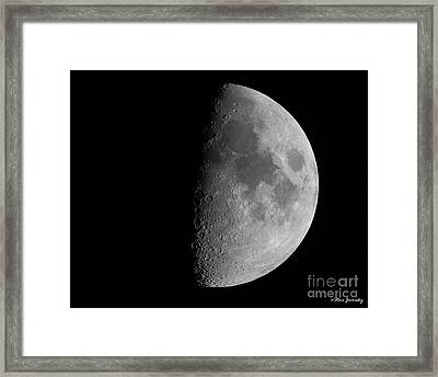 Moon Framed Print by Steve Javorsky