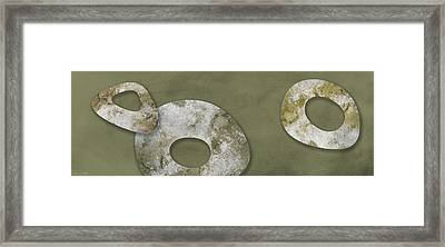 Moon Stones Framed Print by Nomi Elboim