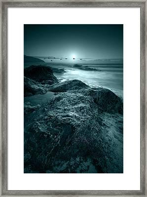 Moonlit Beach Framed Print by Jaroslaw Grudzinski