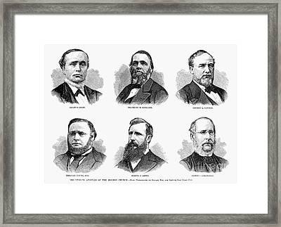 Mormon Apostles, 1877 Framed Print by Granger