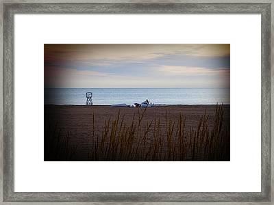 Morning At The Beach Framed Print