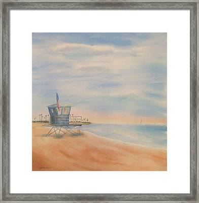 Morning By The Beach Framed Print by Debbie Lewis