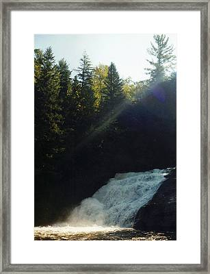Framed Print featuring the photograph Morning Waterfall by Stacy C Bottoms