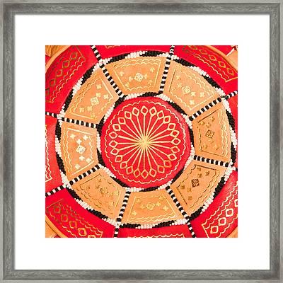 Moroccan Cushion Framed Print by Tom Gowanlock