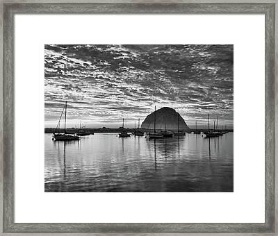Morro Bay On Fire Framed Print