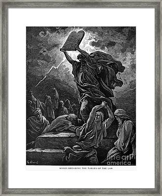 Moses Breaking The Tablets Framed Print