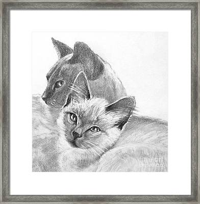 Mother And Child Framed Print by Susan A Becker