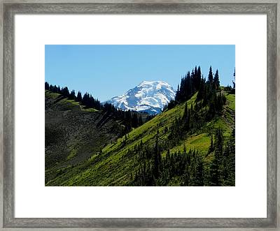 Mount Baker From The Skyline Divide Framed Print by Karen Molenaar Terrell