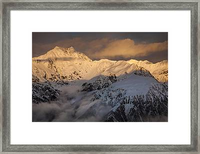 Mount Rolleston At Dawn Arthurs Pass Np Framed Print by Colin Monteath