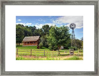 Mountain Cabin - Rural Idaho Framed Print by Gary Whitton