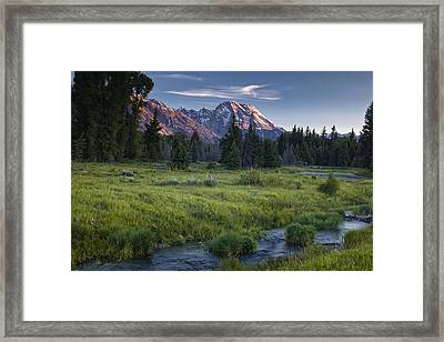 Mountain Stream Framed Print by Andrew Soundarajan