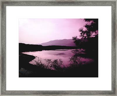 Mountain Twilight Framed Print by Ann Powell