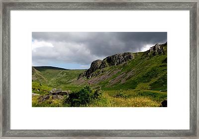 Mountains Framed Print by Barbara Walsh