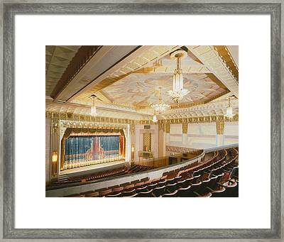 Movie Theaters, The Washoe Theater Framed Print by Everett