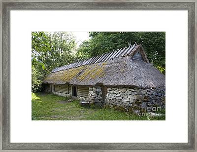 Muhu Museum Exterior In Estonia Framed Print by Jaak Nilson
